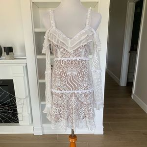 For Love and Lemons white lace dress